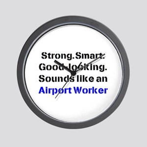 airport worker sound Wall Clock
