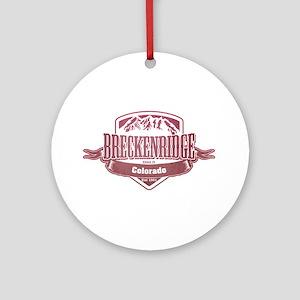 Breckenridge Colorado Ski Resort 2 Ornament (Round