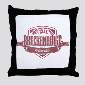 Breckenridge Colorado Ski Resort 2 Throw Pillow