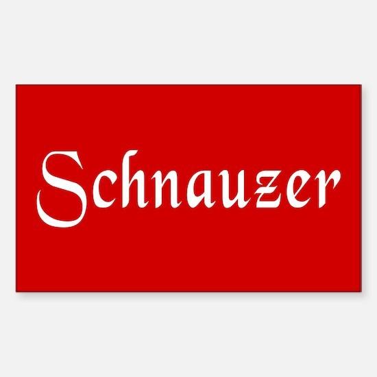 Schnauzer Sticker (Rectangle)