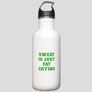 sweat-is-just-fat-crying-VAR-GREEN Water Bottle