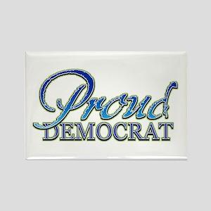 Classy Proud Democrat Rectangle Magnet