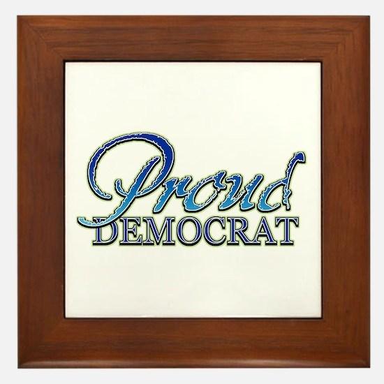 Classy Proud Democrat Framed Tile