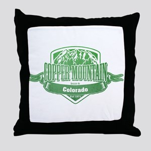 Copper Mountain Colorado Ski Resort 3 Throw Pillow