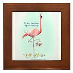Easter Flamingo Framed Tile