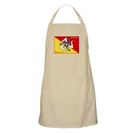 Flag of Sicily BBQ Apron