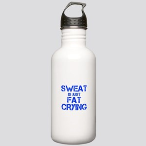 sweat-is-just-fat-crying-cap-blue Water Bottle
