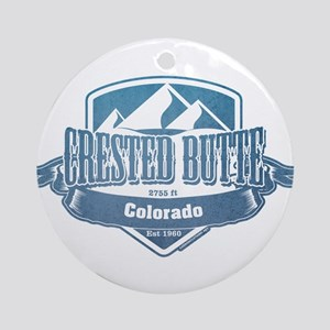 Crested Butte Colorado Ski Resort Ornament (Round)