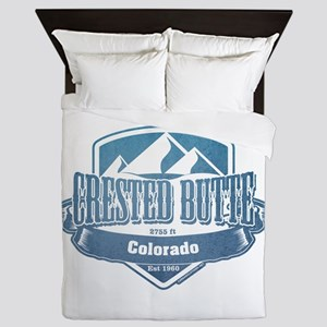 Crested Butte Colorado Ski Resort Queen Duvet