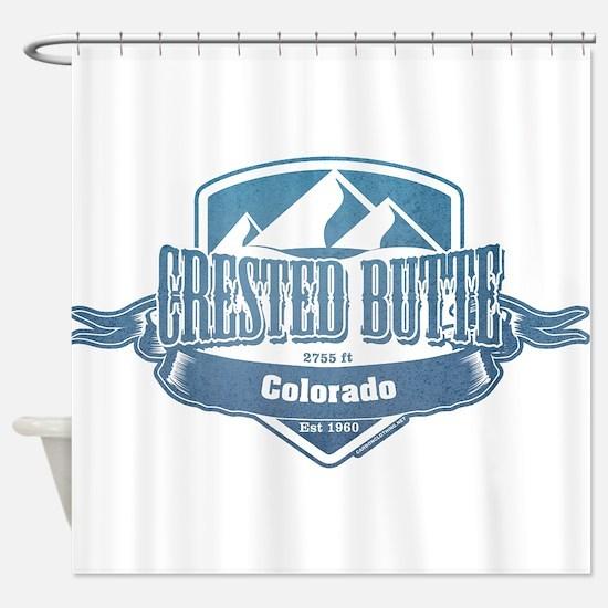 Crested Butte Colorado Ski Resort Shower Curtain