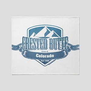 Crested Butte Colorado Ski Resort Throw Blanket