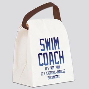 Swim Coach It's Exercise Induced Canvas Lunch Bag