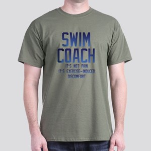 Swim Coach It's Exercise Induced Disc Dark T-Shirt