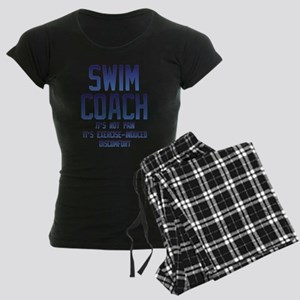 Swim Coach It's Exercise Ind Women's Dark Pajamas