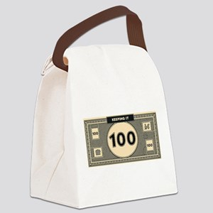 Keeping it 100 Canvas Lunch Bag
