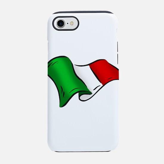 Waving Italian Flag iPhone 7 Tough Case