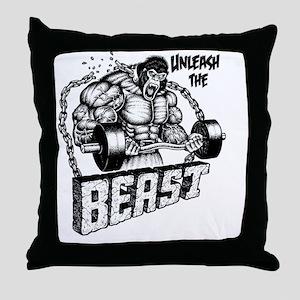 Unleash The Beast Throw Pillow