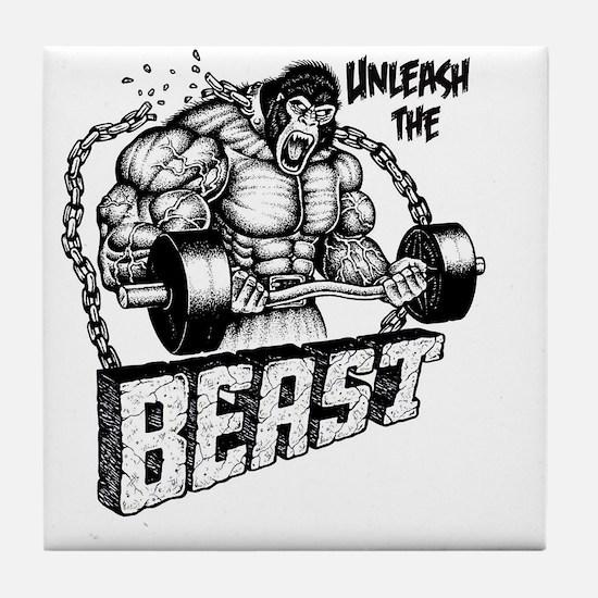 Unleash The Beast Tile Coaster