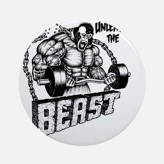 Unleash The Beast Round Ornament
