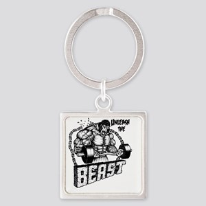 Unleash The Beast Square Keychain