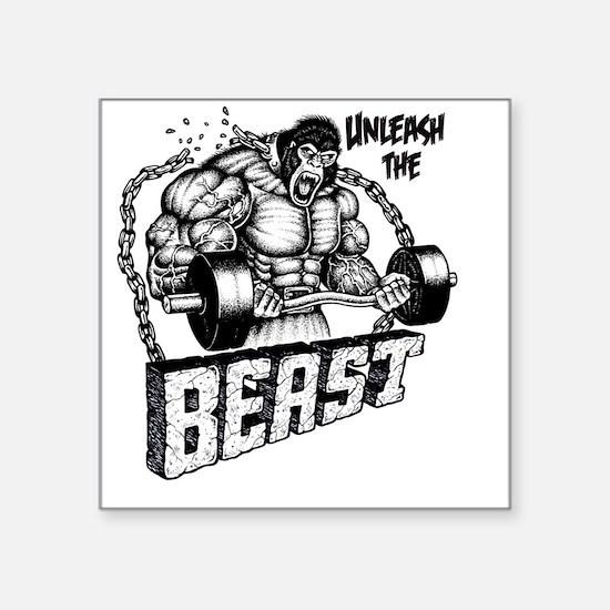 "Unleash The Beast Square Sticker 3"" x 3"""