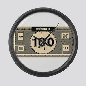 Keeping it 100 Large Wall Clock