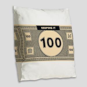 Keeping it 100 Burlap Throw Pillow