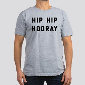 Hip Hip Hooray Men's Fitted T-Shirt (dark)