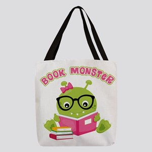 Book Monster Girl Polyester Tote Bag