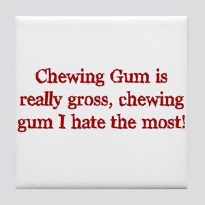 Chewing gum Tile Coaster