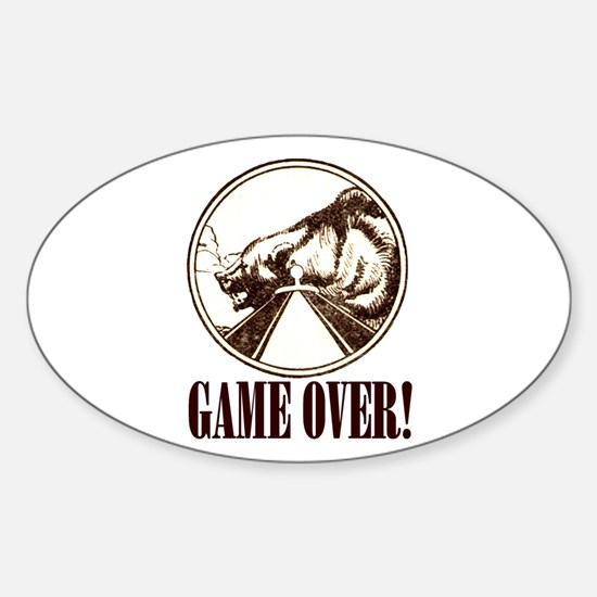 GAME OVER! Oval Decal