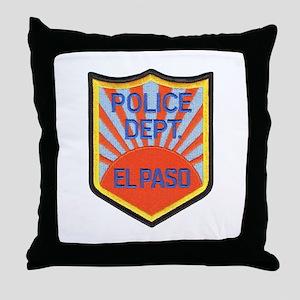 El Paso Police Throw Pillow