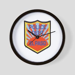 El Paso Police Wall Clock