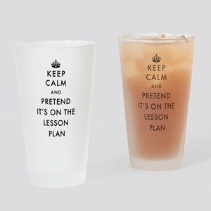 Keep Calm and Pretend It's On The L Drinking Glass