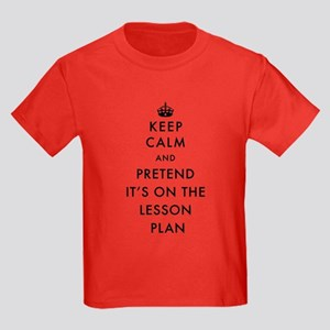 Keep Calm and Pretend It's On Th Kids Dark T-Shirt