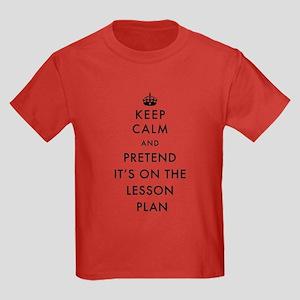 Keep Calm and Pretend It's On Th Kids Dark T-Shirt