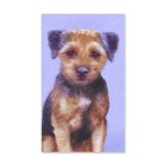 Border Terrier 35x21 Wall Decal