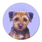 Border Terrier Round Car Magnet