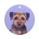 Border Terrier Round Ornament