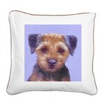 Border Terrier Square Canvas Pillow