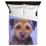 Border Terrier Queen Duvet