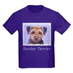 Border Terrier Kids Dark T-Shirt