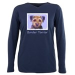 Border Terrier Plus Size Long Sleeve Tee