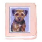 Border Terrier baby blanket