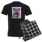 Border Terrier Men's Dark Pajamas