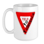 Yield to Tolerance Large Mug
