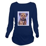 Border Terrier Long Sleeve Maternity T-Shirt