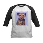 Border Terrier Kids Baseball Tee