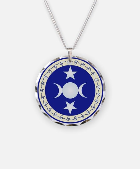 Triple Moon Goddess In Necklace