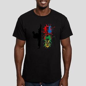 Black Belt Men's Fitted T-Shirt (dark)